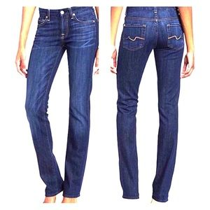 7 For All Mankind Kimmie Straight Leg Med Wash 27